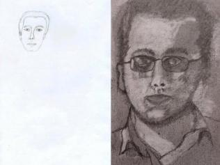 Autoritratto prima e dopo 24H Drawing Lab