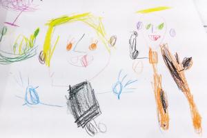 Disegno di Lily, 4 anni.