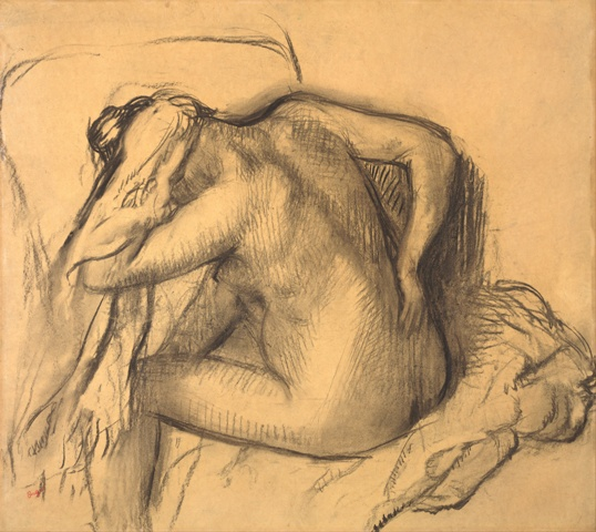 Edgar_Degas_-_After_the_Bath,_Woman_Drying_Her_Hair_-_Google_Art_Project