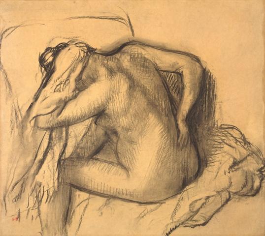 Edgar_Degas_-_After_the_Bath,_Woman_Drying_Her_Hair_-_Google_Art_Project