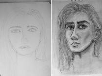 Autoritratto prima e dopo 24H Drawing Lab - www.24hdrawinglab.com
