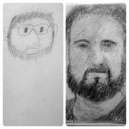 autoritratto prima e dopo il corso di disegno